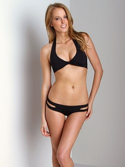 L Space Sensual Solids Estella Bikini Bottoms Black