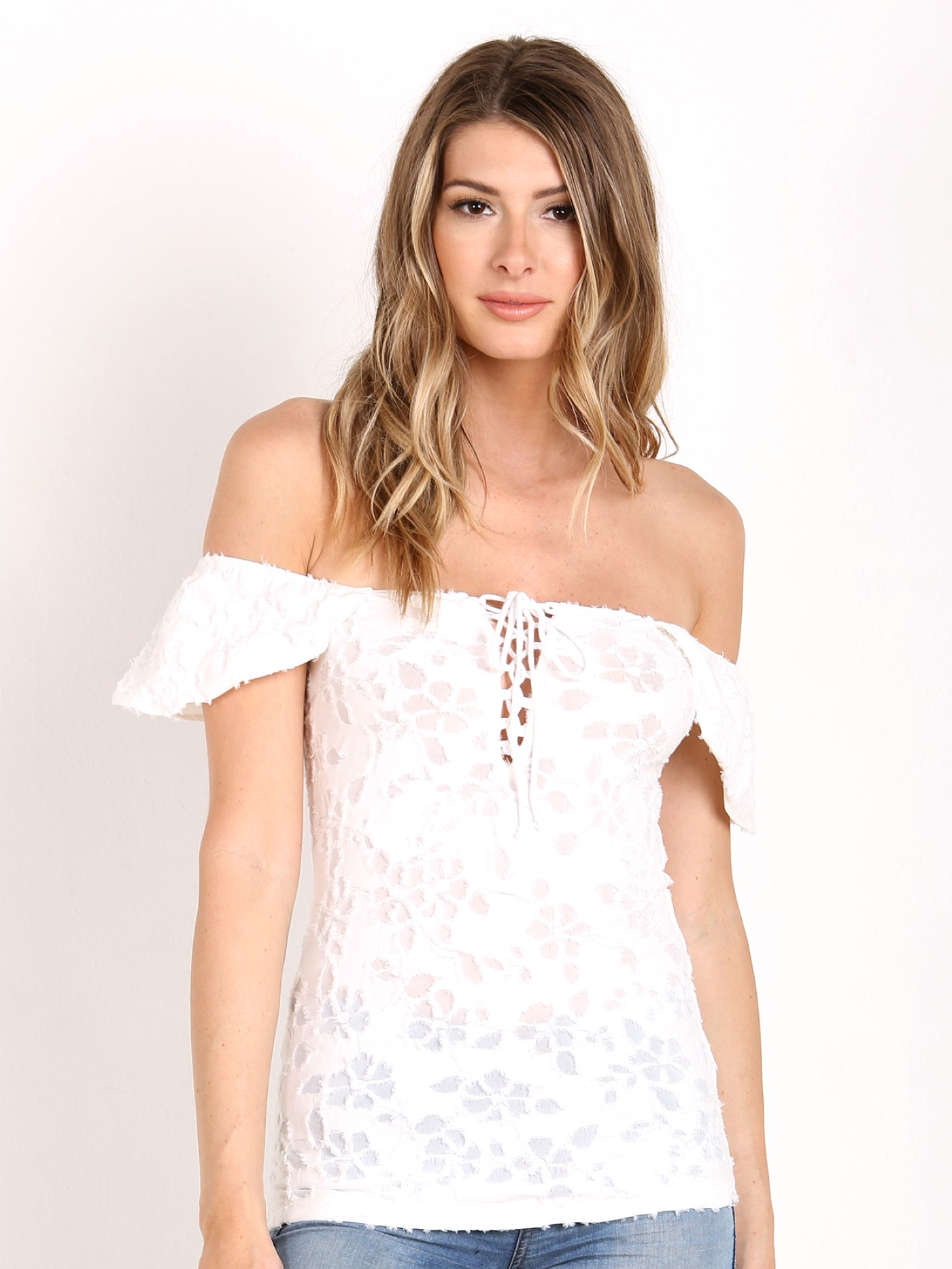 77f2c9197e6f8 Free People Popsicle Off the Shoulder Top Ivory OB496121 - Free Shipping at  Largo Drive