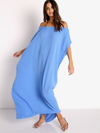 Model in moroccan blue 9seed Moonstone Maxi