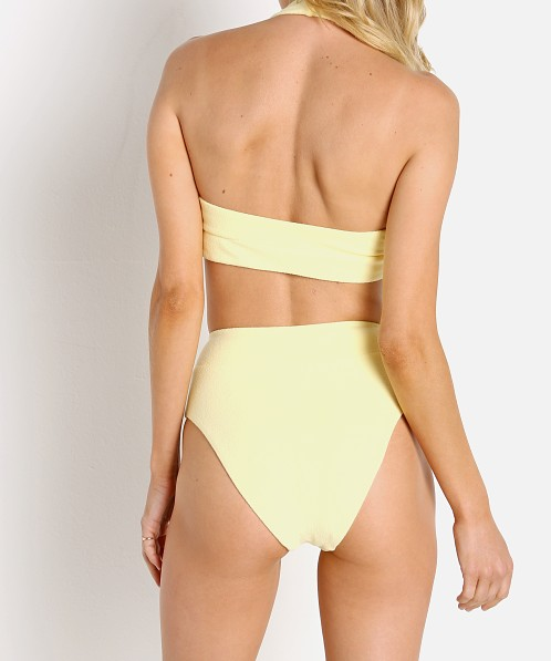 IT'S NOW COOL Terry Halter Top Bikini Lemon
