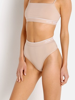 Model in honey almond Calvin Klein Ck One Micro  High Waist Thong