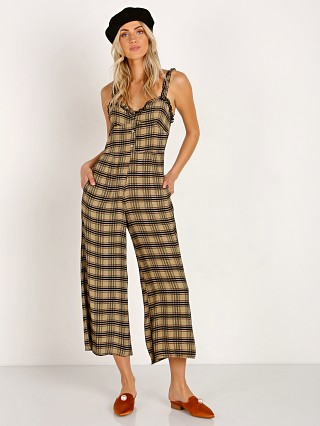 Model in hillary print Faithfull the Brand Cancun Jumpsuit