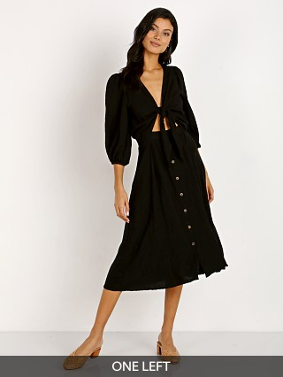 Faithfull the Brand Tobago Midi Dress Black
