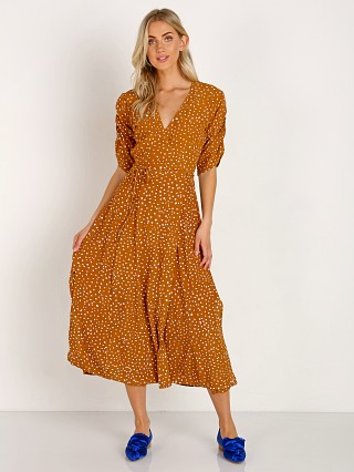 Faithfull the Brand Chiara Midi Dress Noel Caramel Print