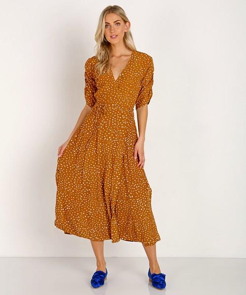 fd9f74dd Faithfull the Brand Chiara Midi Dress Noel Caramel Print FF1218-NPC - Free  Shipping at Largo Drive