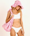 Faithfull the Brand Frederikke Sun Hat Roos Pink Tie Dye, view 2