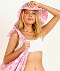 Faithfull the Brand Frederikke Sun Hat Roos Pink Tie Dye, view 4