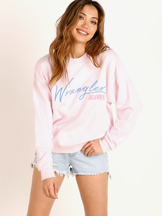 Wrangler Jeanies High Rib Retro Sweater Cradle Pink