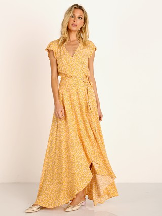 Auguste the Label Dean Sierra Wrap Maxi Dress Yellow
