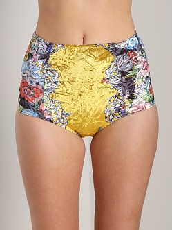 Private Arts Far East High Waisted Velvet Undie Yellow