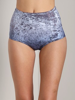 Private Arts Andy High Waisted Velvet Undie Blue