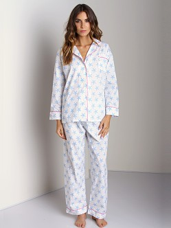 Marigot Long PJ Set Summer Blue Starfish