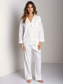Marigot Long PJ Set Turquoise Sun Moon