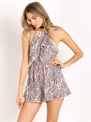 Zimmermann Henna Frippery Playsuit Taupe Floral