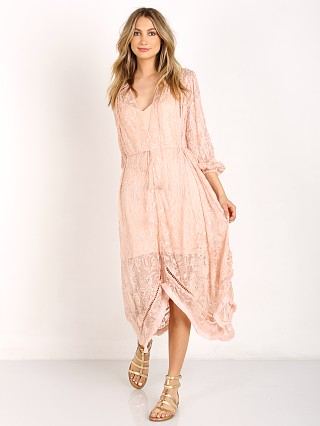 Zimmermann Henna Floating Fringe Dress Rose