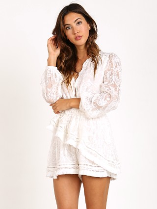 Zimmermann Henna Floating Fringe Playsuit Ivory