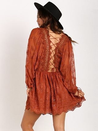 Zimmermann Alchemy Twine Embroidery Dress Copper