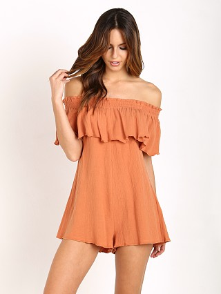 Somedays Lovin Bohemia Off Shoulder Romper Brick