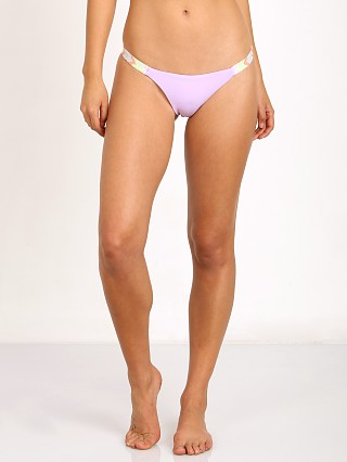 Mara Hoffman Rainbow Embroidered Bikini Bottom Lavender