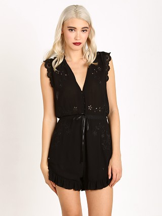Spell Isla Bonita Embroidered Romper Black