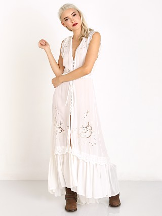 Spell Isla Bonita Embroidered Dress White