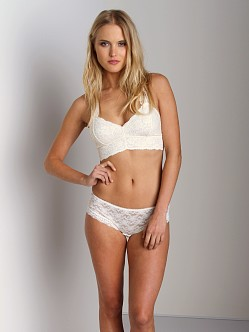 Free People Racerback Cropped Bra Ivory