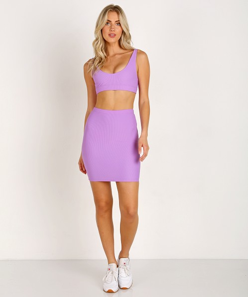 Indah Ramen Solid Mini Skirt Lilac