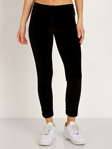 Indah Mozzarella Solid Velour Sweats Black
