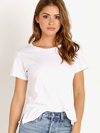 LNA Clothing Essential Cotton Mason Crew White