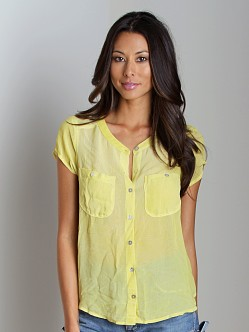 Free People Spellbound Button Up Golden