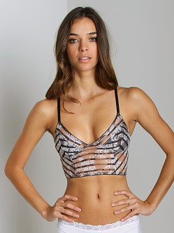Free People Striped Bralette Black/White