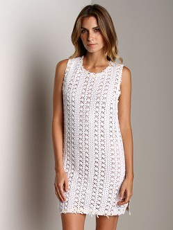 Free People Thrifty Eyes Tunic Dress Optic White