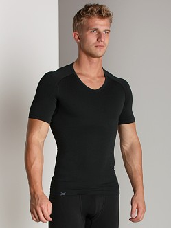 Equmen Core Precision V-Neck T-Shirt Black