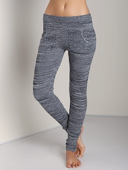 Plush Marled Sweater Leggings Black/White