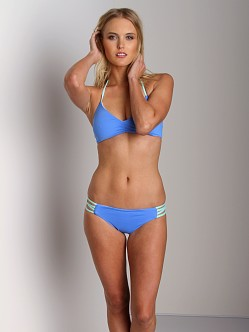 L Space Color Blocked Low Down Classic Cut Bikini Bottom