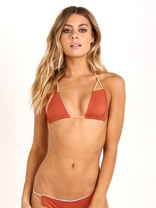 Koa Swim The Mirage Reversible Bikini Top Copper/White