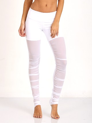 alo Mesh Goddess Legging White