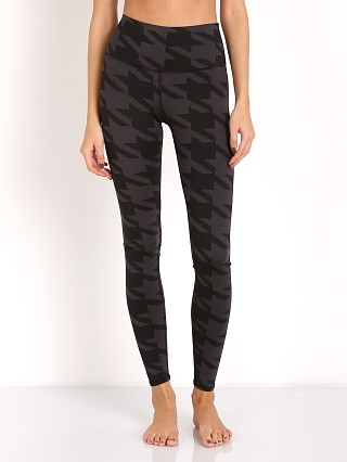 alo High Waist Airbrush Legging Black Houndstooth