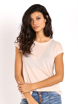 Bella Luxx Tissue Rib Cap Sleeve Blush