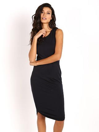 Bella Luxx Brushed Jersey Midi Dress Navy