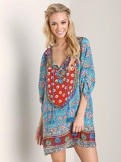 tolani sarita tunic turquoise 8557 free shipping at