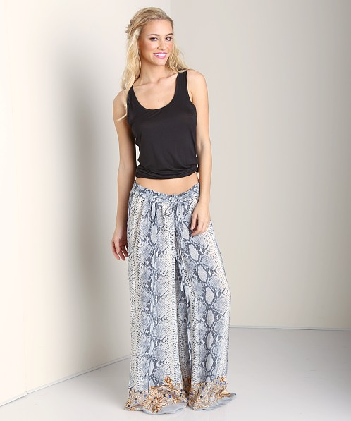 Tolani Aria Pant Grey Animal