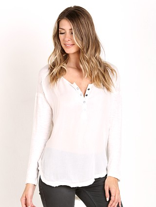 Free People Sunday Henley Tee Ivory