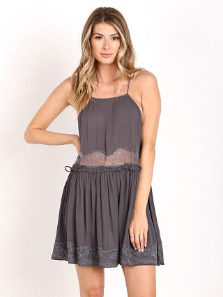 Free People Two for Tea Slip Charcoal