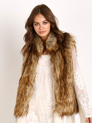BB Dakota Colton Faux Red Fox Fur Vest