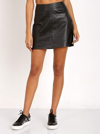 BB Dakota Brucie Leather Mini Skirt