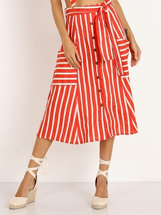 Faithfull the Brand Gonzales Skirt Mazur Stripe Red