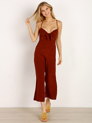 Faithfull the Brand Presley Jumpsuit Plain Maroon