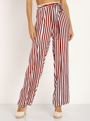 Faithfull the Brand Tiki Tiki Pants Zeus Stripe Maroon