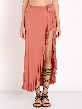 Somedays Lovin Ammu Midi Wrap Skirt Rust